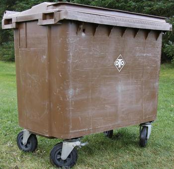 660 liter brun beholder