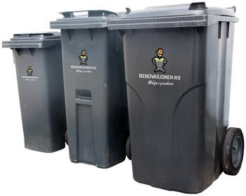 80, 140 og 340 liters avfallsbeholder