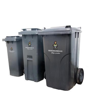 80, 140 og 340 liters husholdningsbeholdere
