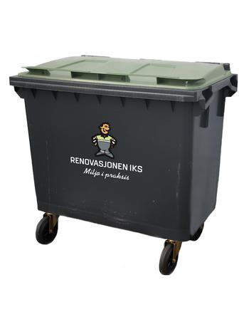 660 liter grønn avfallsbeholder