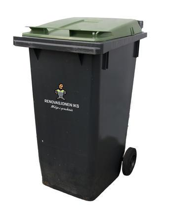 Grønn avfallsbeholder