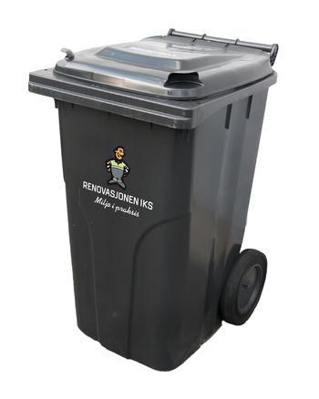 240 liter sort avfallsbeholder