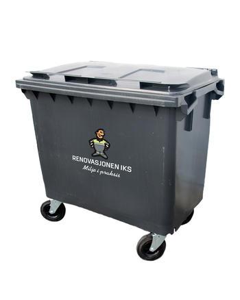 Avfallsbeholder for restavfall, 660 liter