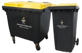 Sorte avfallsbeholdere