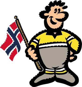 Hugo Boss med norsk flagg